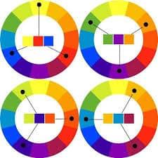 colour wheel triads